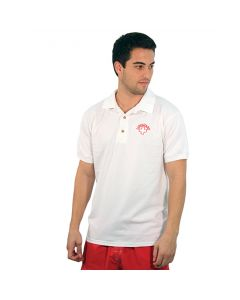 White Lifeguard Polo Shirt with Lifeguard Red Embroidery