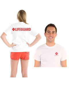Front and Back of the eLifeguard™ Lifeguard T-Shirt