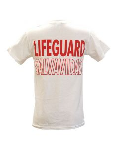 Back of the English/Spanish Lifeguard T-Shirt