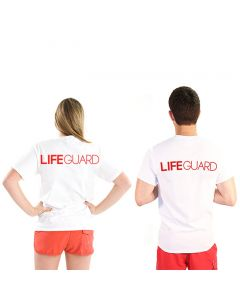 Back of the Bold Narrow Lifeguard T-Shirt