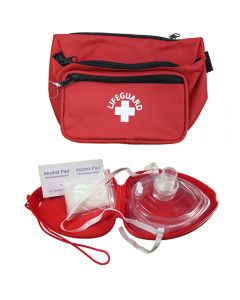 Lifeguard Red 3 Pocket Hip Pack and Lifeguard Red Pocket Mask