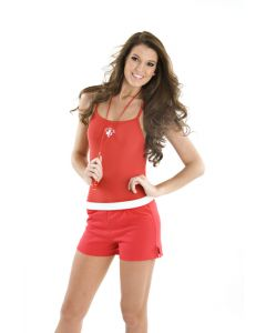 """Cheer"" Short in Lifeguard Red"