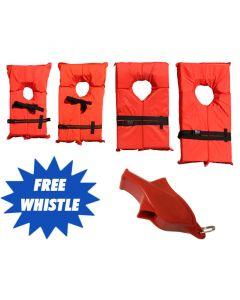 Boating Vest - Type II (Bonus Free Safety Whistle)