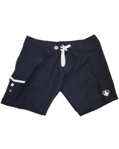 Front of the Lifeguard Surfies™ in Navy with White Lifeguard Logo and Drawstring