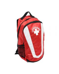 Pro Lifeguard Backpack in Lifeguard Red with White Lifeguard Logo