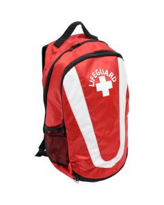 Pro Lifeguard Backpack in Lifeguard Red