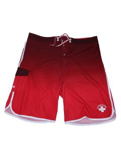Front of the Lifeguard NEOSTRETCH® Board Short in Lifeguard Red