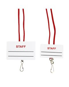 Front of Staff Name Tag / Break-Away Lanyard with Swivel Hook