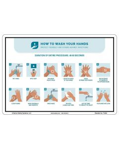 Plastic Wash Your Hands Sign