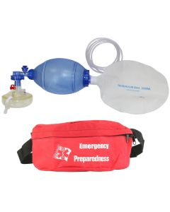 Adult BVM with Seal Quik™ Mask Kit and First Aid Fanny Pack Kit