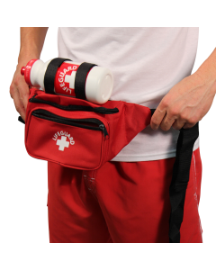 Red Waterpark Lifeguard Hip Pack w/ Bottle