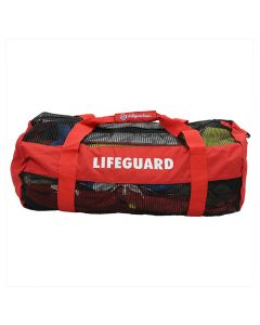 Red and Black Lifeguard Equipment Duffle With White LIFEGUARD imprint