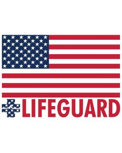 American Flag Lifeguard Bumper Sticker