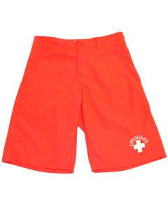 Front of the Lifeguard Amphibian Short Lifeguard Red
