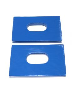 EMMOBILIZE™ Head Immobilizer Replacement Vinyl Dipped Foam Blocks - Blue
