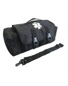 Black Emergency First Responder's First Aid Bag and Strap