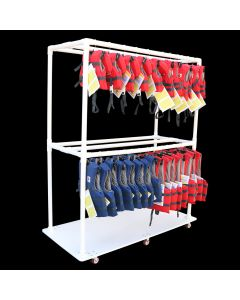 Life Vest Storage Cart Front Right Side