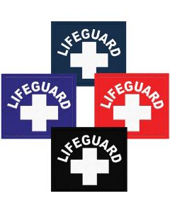 Lifeguard Patch in Navy, Royal Blue, Lifeguard Red and Black With White Lifeguard Logo