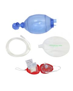 Bag Valve and CPR Pocket Mask Combo