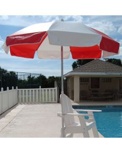 Lifeguard Red and White Lifeguard Umbrella
