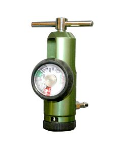 Aluminum O2 Regulator - Green - 0-15L