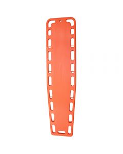 Front of Plastic Spineboard in Orange