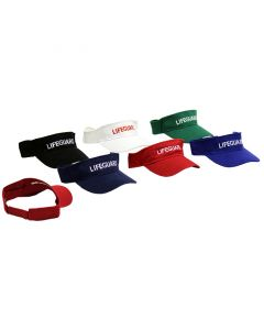 Multiple Colors Lifeguard Visor Front and Back