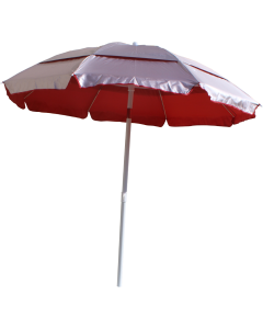 Lifeguard Red with Silver Solarlyte™ Lifeguard Umbrella Opened