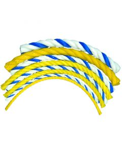 Floating Polypro Rope in Yellow and Blue/White