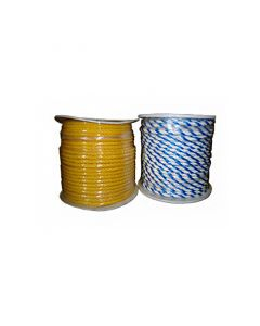 Two Spools of Floating Polypro Rope in Yellow and in Blue / White