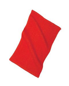 Front of the Lifeguard Hand Towel in Lifeguard Red