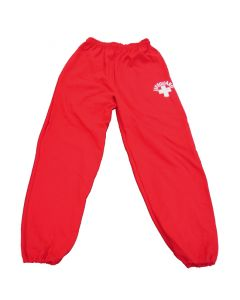 Front of the Lifeguard Sweatpants in Lifeguard Red