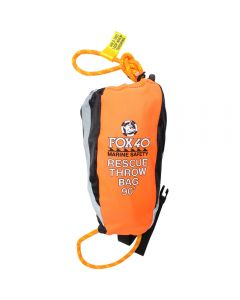 Front of the Fox 40 Marine 90' Rescue Throw Bag in Orange