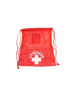 Front of the Lifeguard Mini Bag Pack in Lifeguard Red