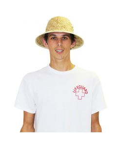 Front of the Lifeguard Pith Hat in Tan