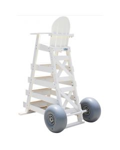 Installed Lifeguard Chair Wheel Kit