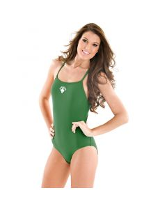 Front of the Thin Strap Lifeguard Proback - 100% Polyester Green