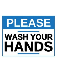 Please Wash Your Hands Sticker