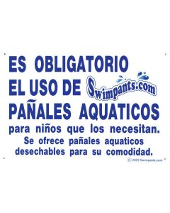 """Swimpants Required"" Sign (Spanish)"