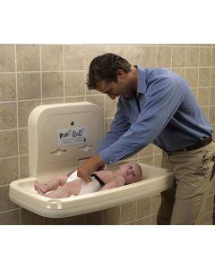 Father Changing Baby on Baby Changing Station (Horizontal)