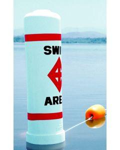 Regulatory Swim Area Buoy in action