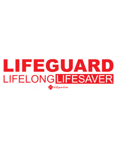 Red and White Lifeguard Lifelong Lifesaver Bumper Sticker