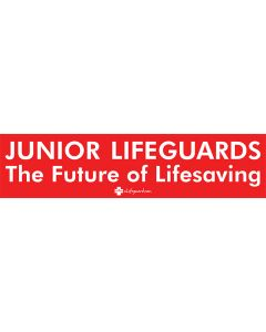 Lifeguard Red with White Text Bumper Sticker
