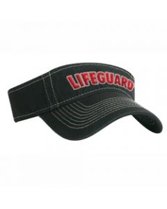 Front of the Lifeguard Flex Visor (Black)