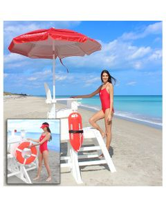 MLG 645 - Everondack® ProSeries™ Medium Lifeguard Chair with Front Ladder
