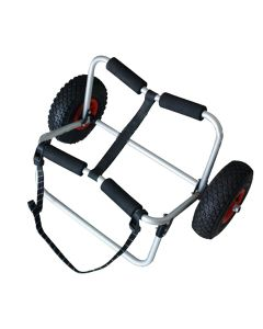 Stand Up Paddle Mule Carrier in Silver with Black Straps and Wheels