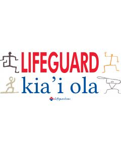 Hawaii Lifeguard Bumper Sticker