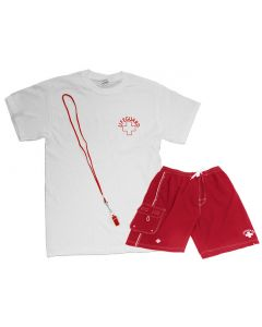 The Ultimate Guard Pak™ with Board Shorts in Lifeguard Red