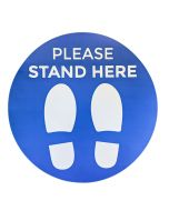 Please Stand Here - Social Distancing Sticker