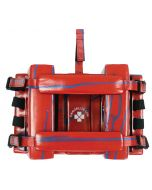 Splash Head Immobilizer in Lifeguard Red with Blue Splash